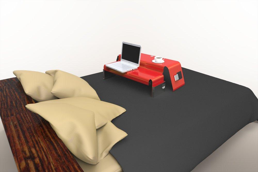 Bent Metal Desktop Riser Concept