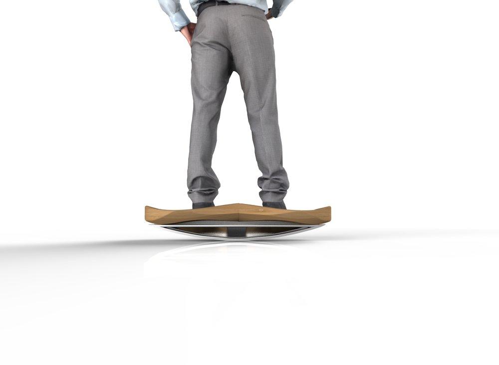 Curvilinear Balance Board Concept