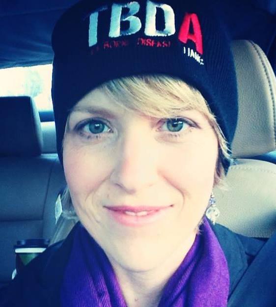 Me in my Tick Borne Disease Alliance (TBDA) hat!
