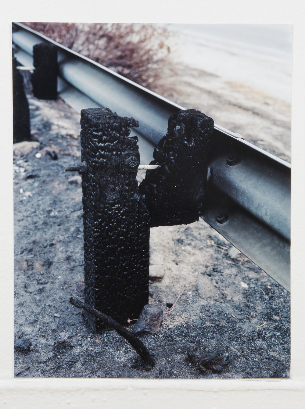 Burnt Guardrail, 16in x 20in, Inkjet Print.