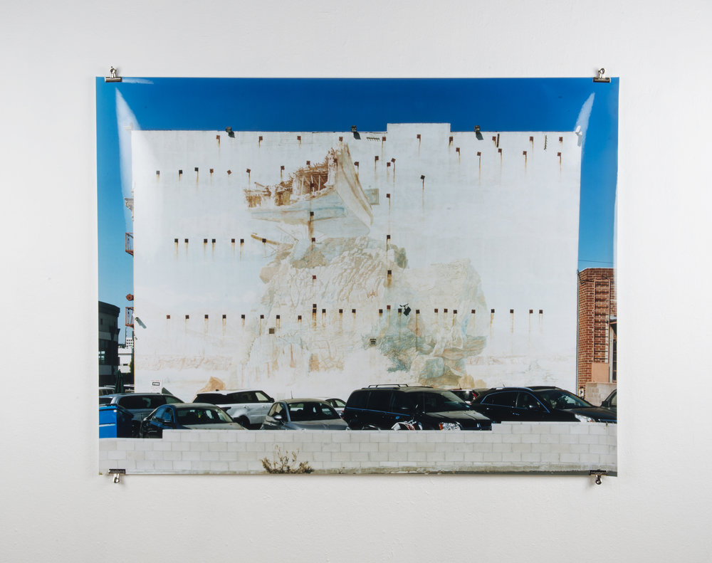 Parking Lot Prophecy , 65in x 50in, Chromogenic Print.