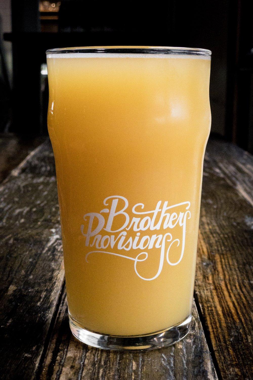 IPA so hazy you'd think its orange juice. brothers provisions, san diego, ca 2.10.18