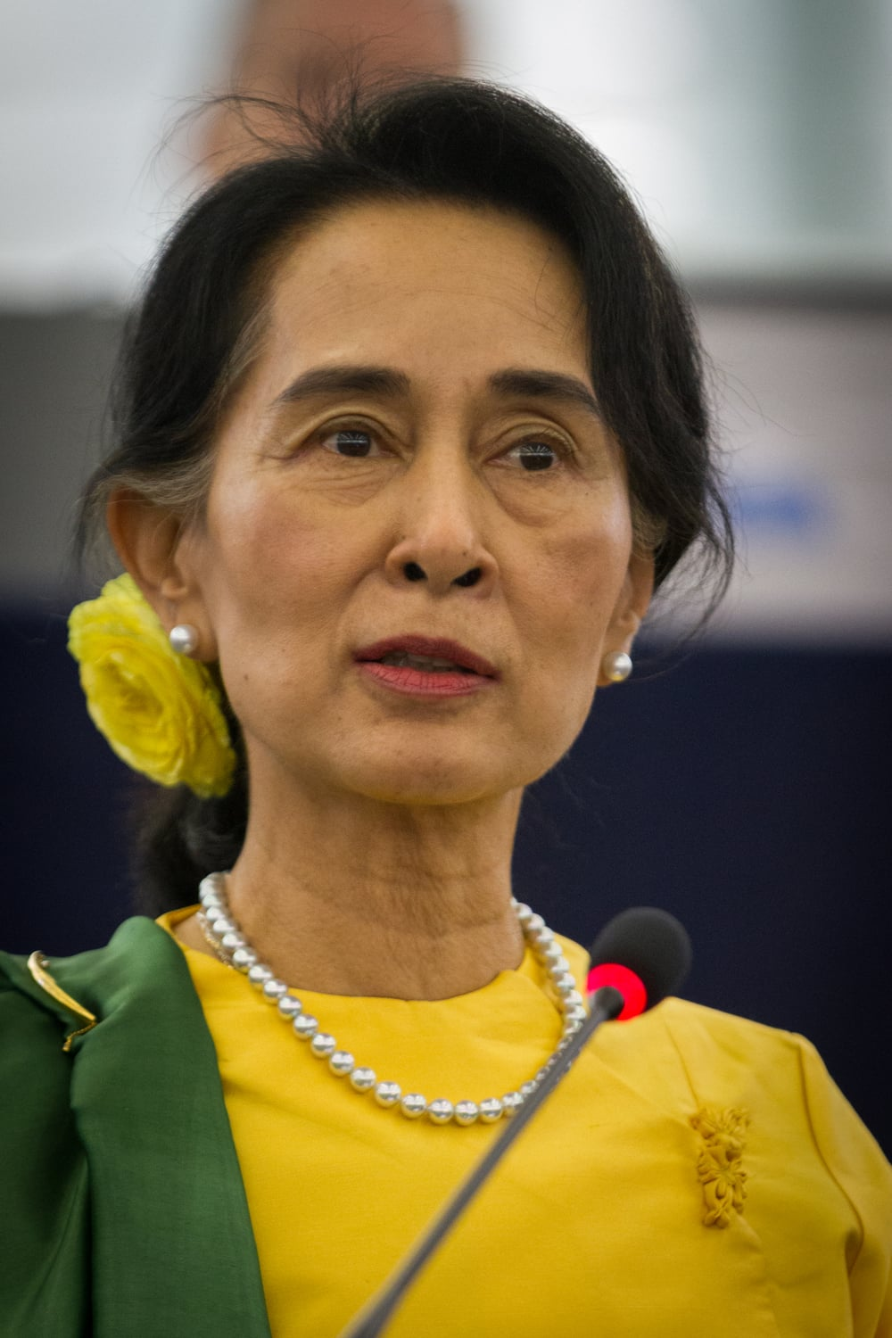 """Aung San Suu Kyi"" by Claude Truong-Ngoc is licensed under CC BY-SA 3.0."