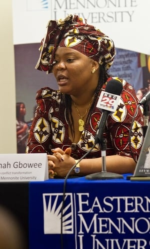 """Leymah Gbowee"" by Jon Styer is licensed under CC BY 3.0."