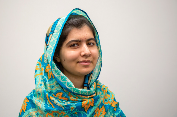 """Malala Yousafzai"" by Simon Davis/DFID is licensed under CC BY 3.0."
