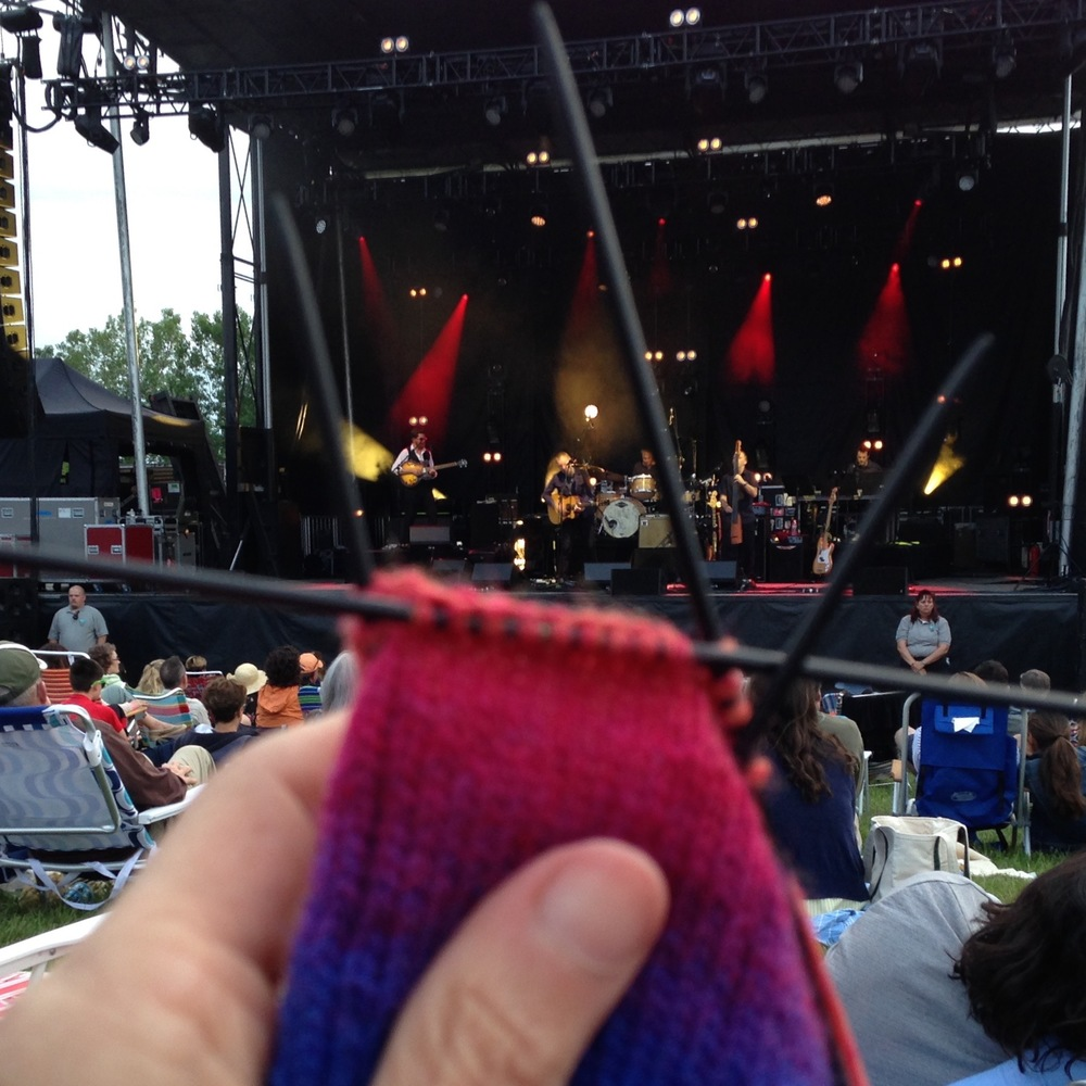 David Gray and his band, outside at Shelburne Museum on a lovely Vermont evening