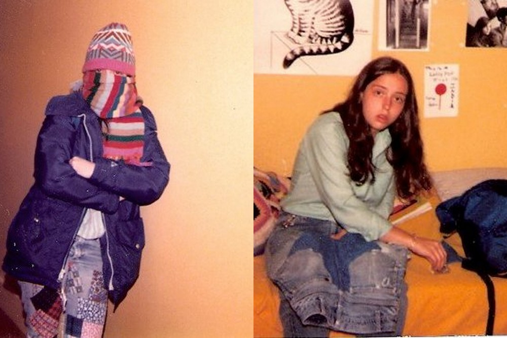 My sophisticated fashion sense was evident even then... Looks like I'm replacing the entire seat of those jeans.