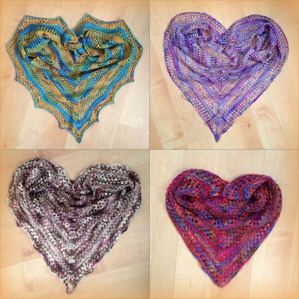 Linen & Lace shawl, free pattern pdf here