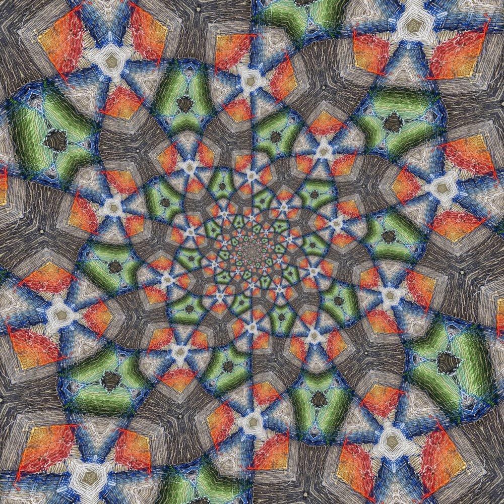 The back, kaleidoscoped