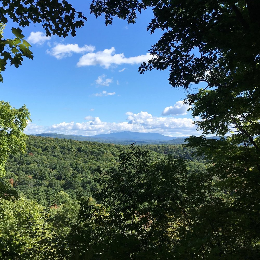 Hiking on Saturday: the view to the east--Mt. Mansfield