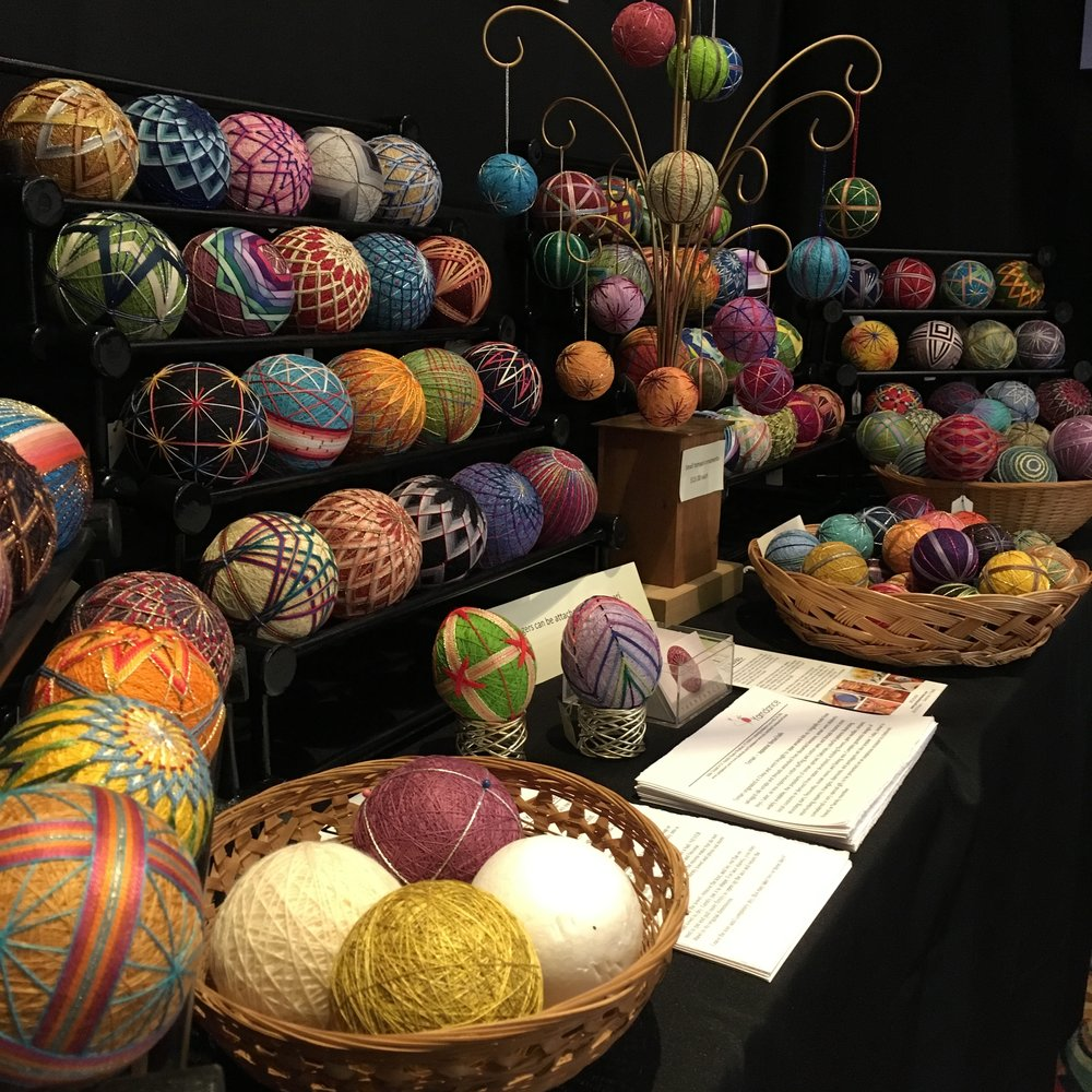 My temari on display at Craft Vermont this past weekend