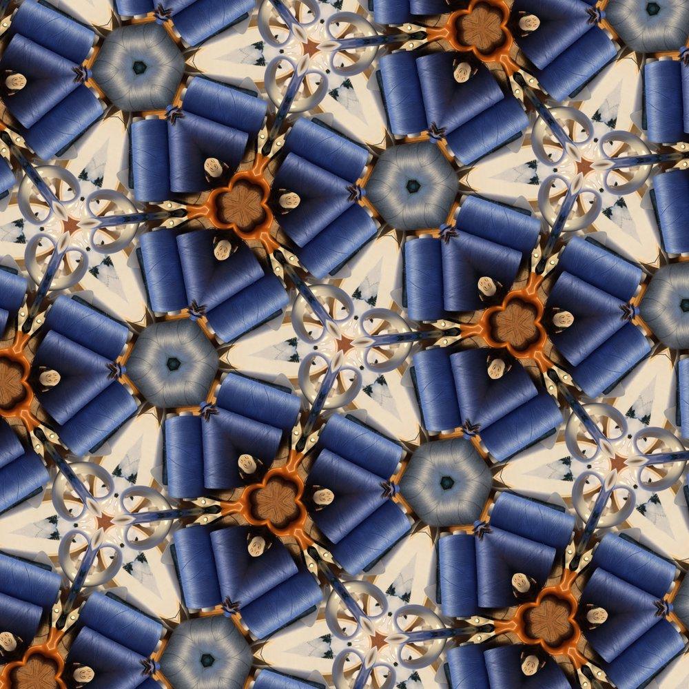 Made on Monday in progress, kaleidoscoped