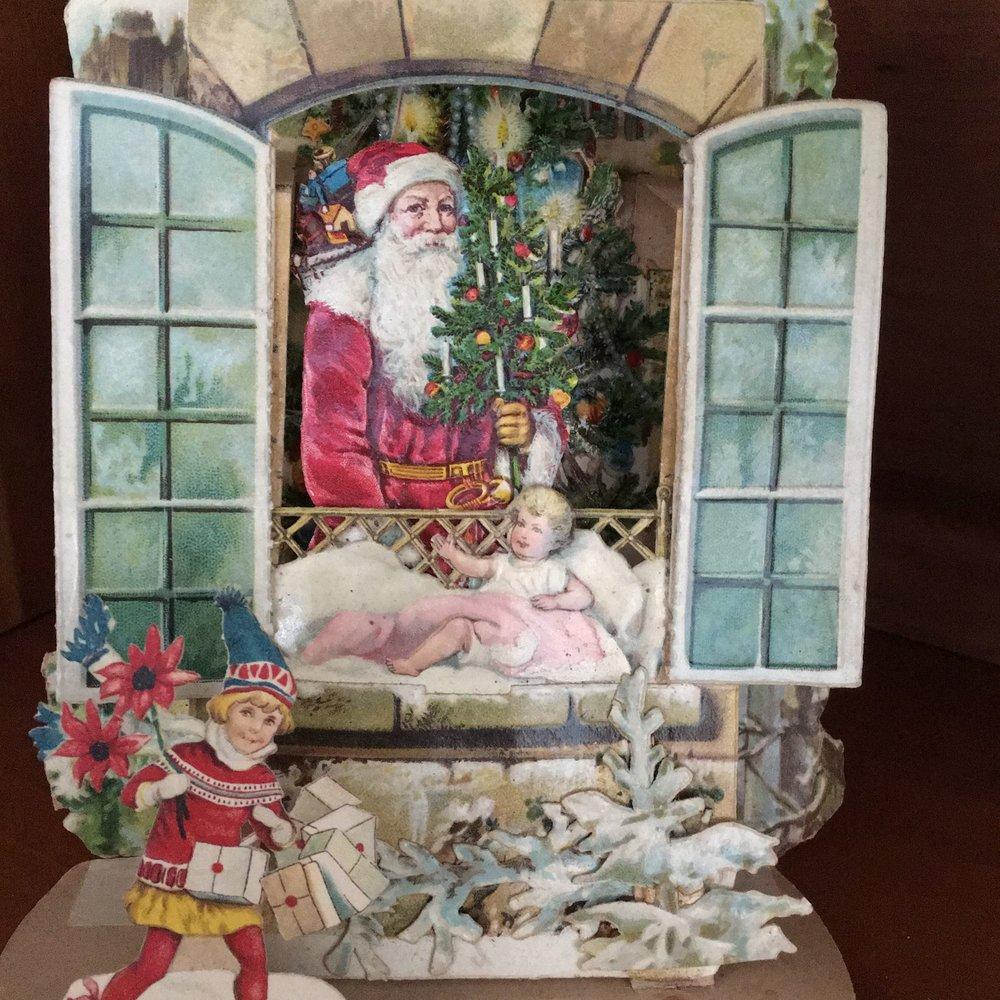 Antique pop-up Christmas card