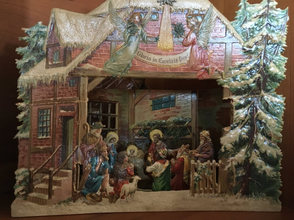 Another antique pop-up Christmas card
