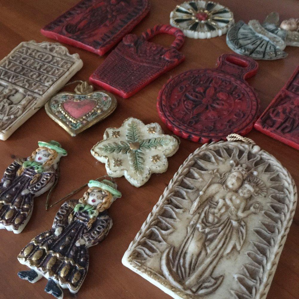 Antique wax ornaments