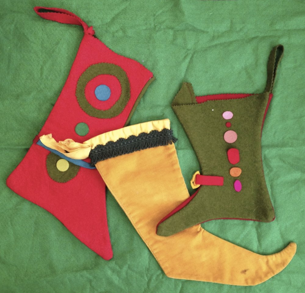 Christmas stockings made by my mother over 50 years ago