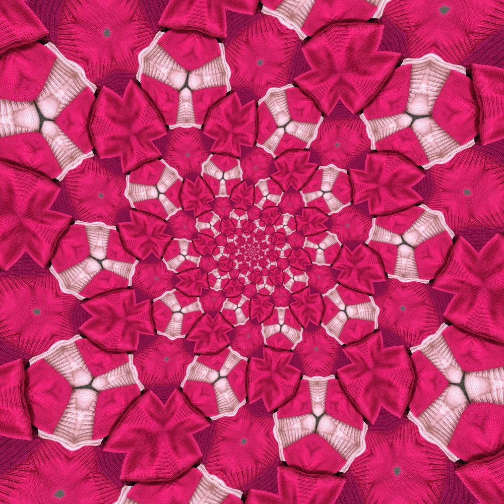 A powerful pink kaleidoscope!
