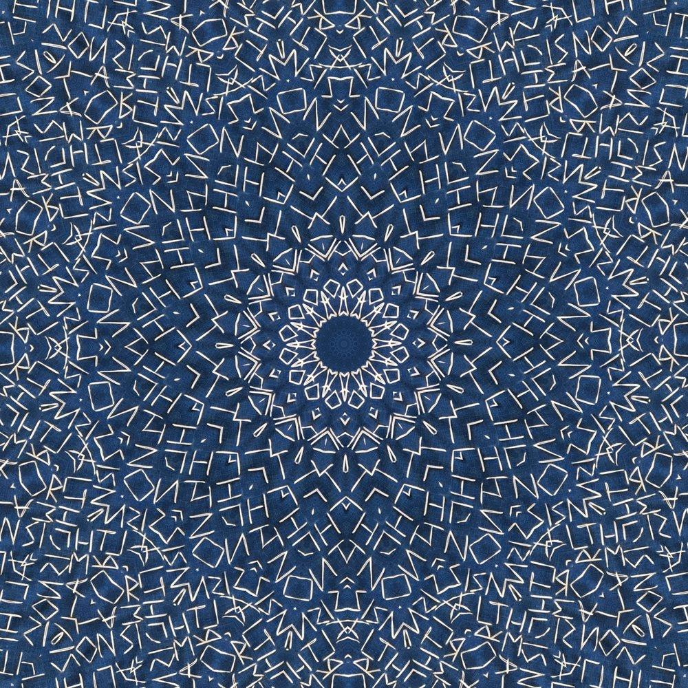 Star field, kaleidoscoped.
