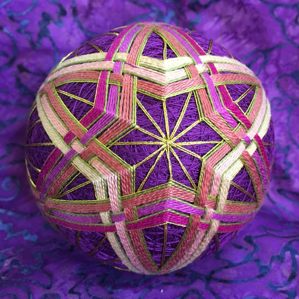 Maharani, one of many temari just added to the   Temari   gallery page