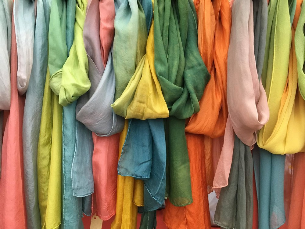 Silk chiffon in subtly variegated shades