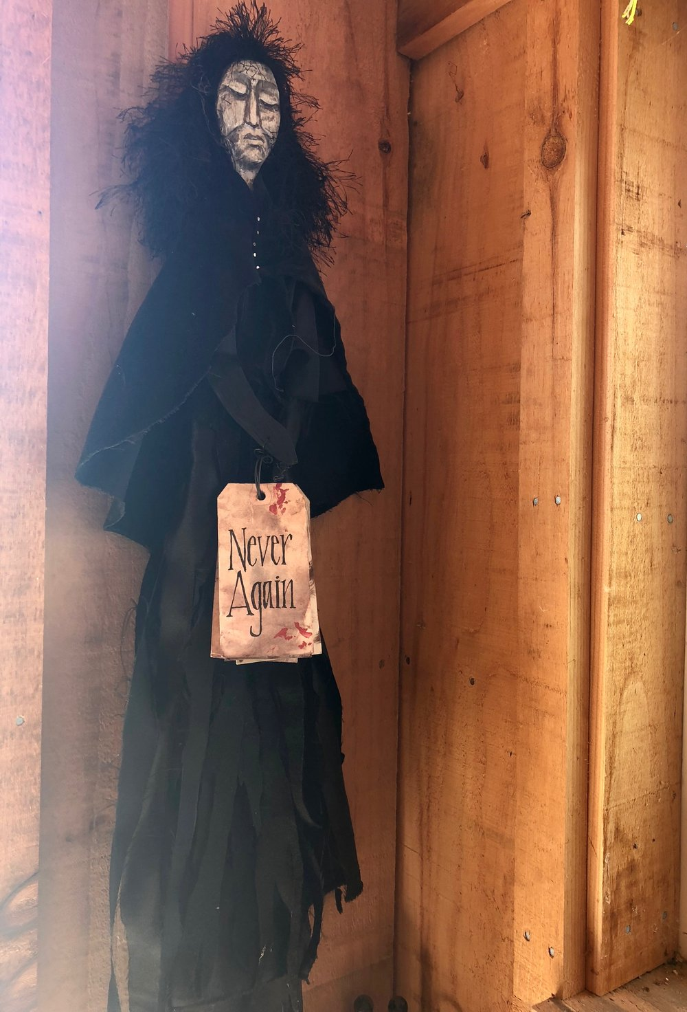 """""""Never Again,"""" doll by Meta Strick addressing gun violence and mass shootings"""