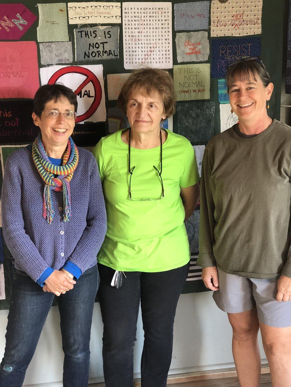 "The women of ""Women Speak"": me, Meta Strick, Sarah Rosedahl"