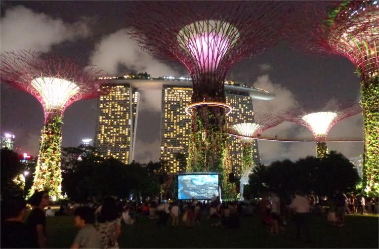 Photo de l'exposition Planète Océan actuellement à Singapour organisée par GoodPlanet