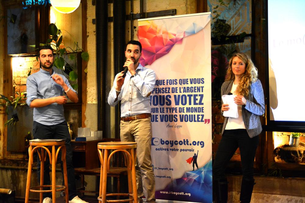 Bulent et Levent Acar au lancement de leur site et des deux premières campagnes le 1er juin à La Recyclerie à Paris