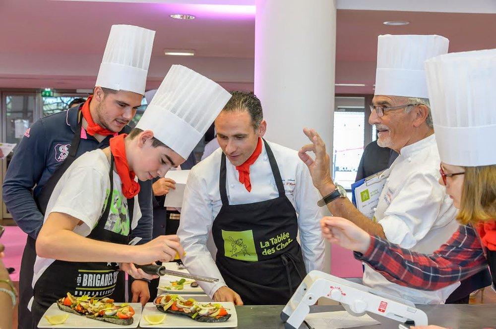 Atelier la Brigade Culinaire animé par le chef étoilé Gérard Cagna