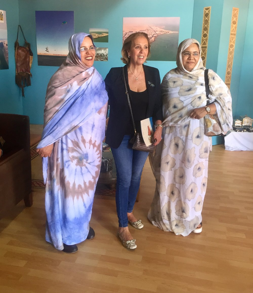 Rencontres avec des femmes marocaines lors de la visite du Pavillon villes et régions à la COP22