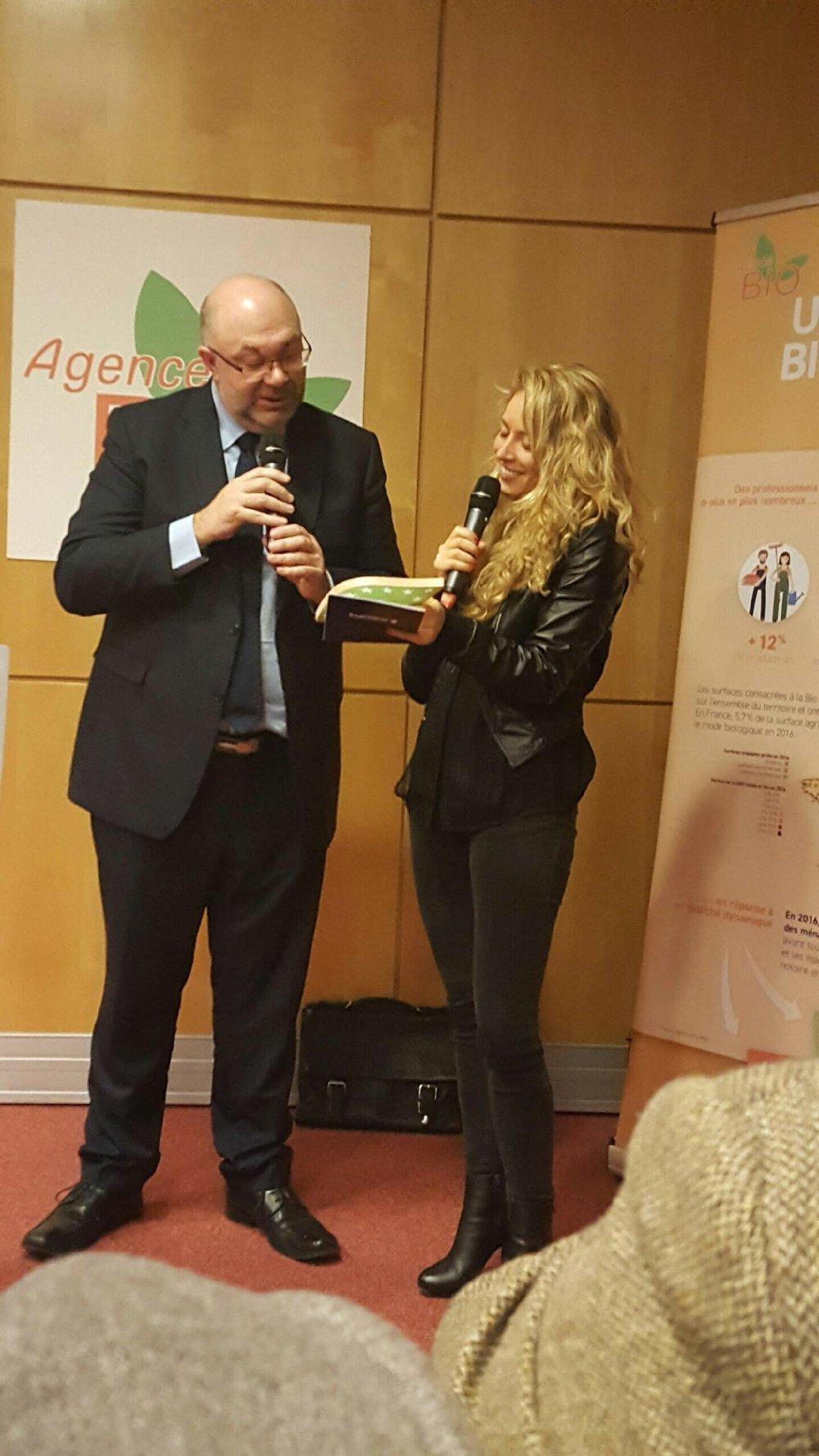 remise des trophées avec le Ministre de l'agriculture et de l'alimentation Stéphane Travert