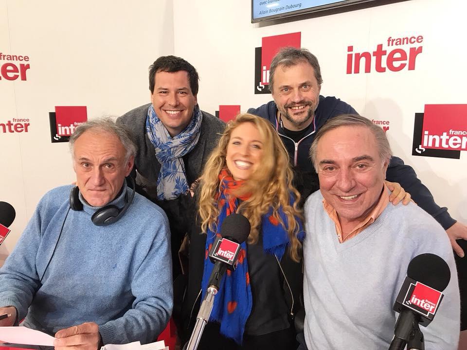 Avec l'auteur Guillaume Pitron et Alain Bougrain Dubourg avec aux manettes Denis Cheissoux et son acolyte Frédéric Denhez - 17 mars 2018 - Salon du livre