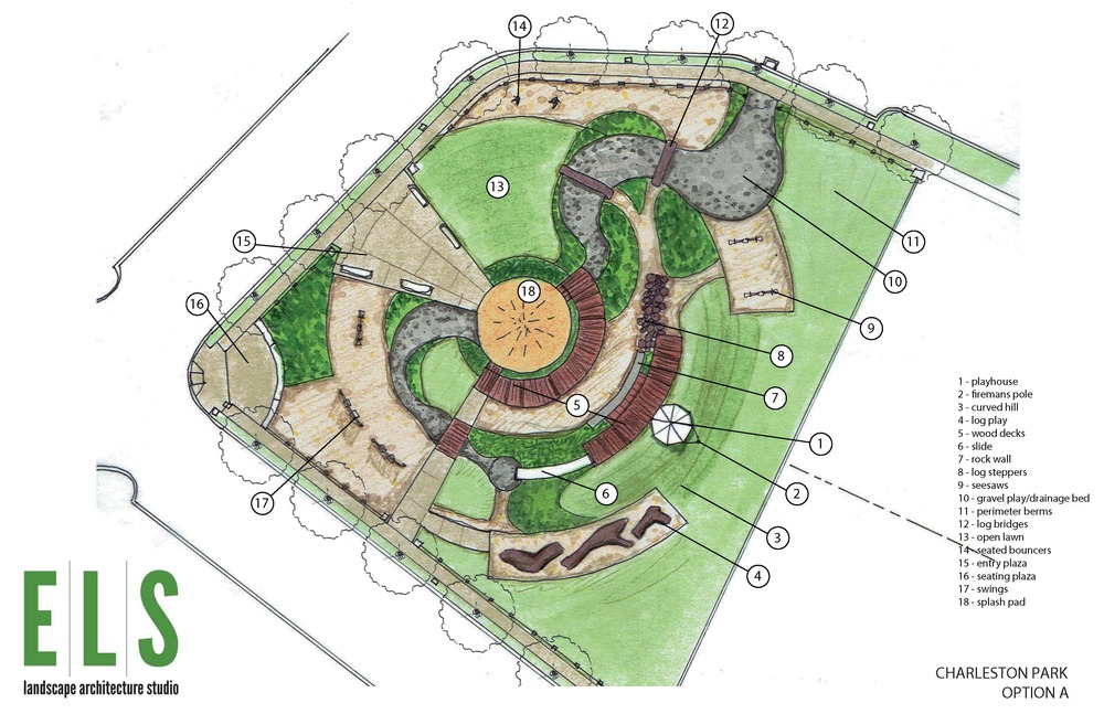 the preliminary master plan for charleston park