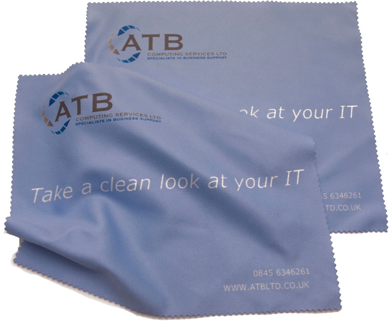 IT company use of a microfibre lens cloth