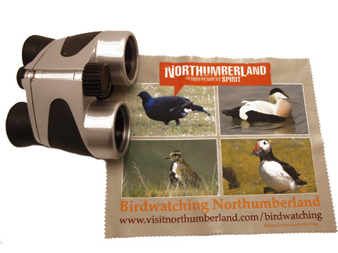 Binocular microfibre cleaning cloths for birdwatchers