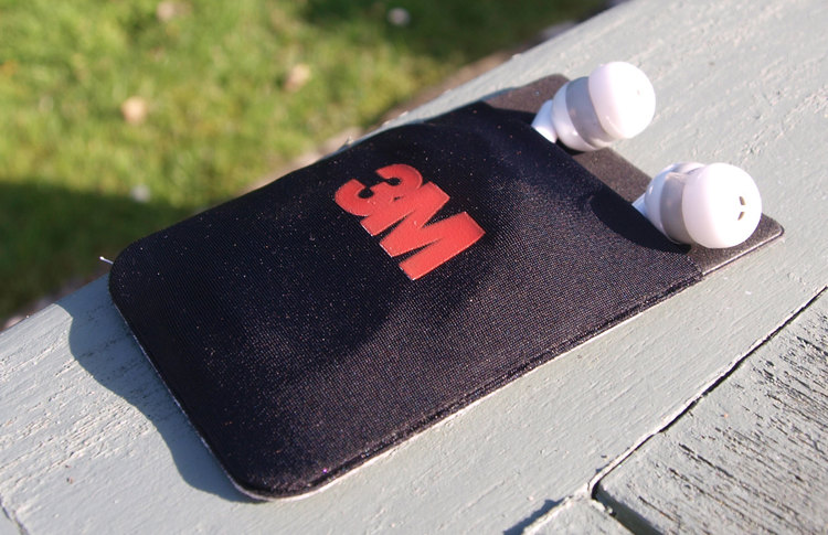 An example: a 'sticky' card holder for the back of the phone, but made from microfibre cloth.