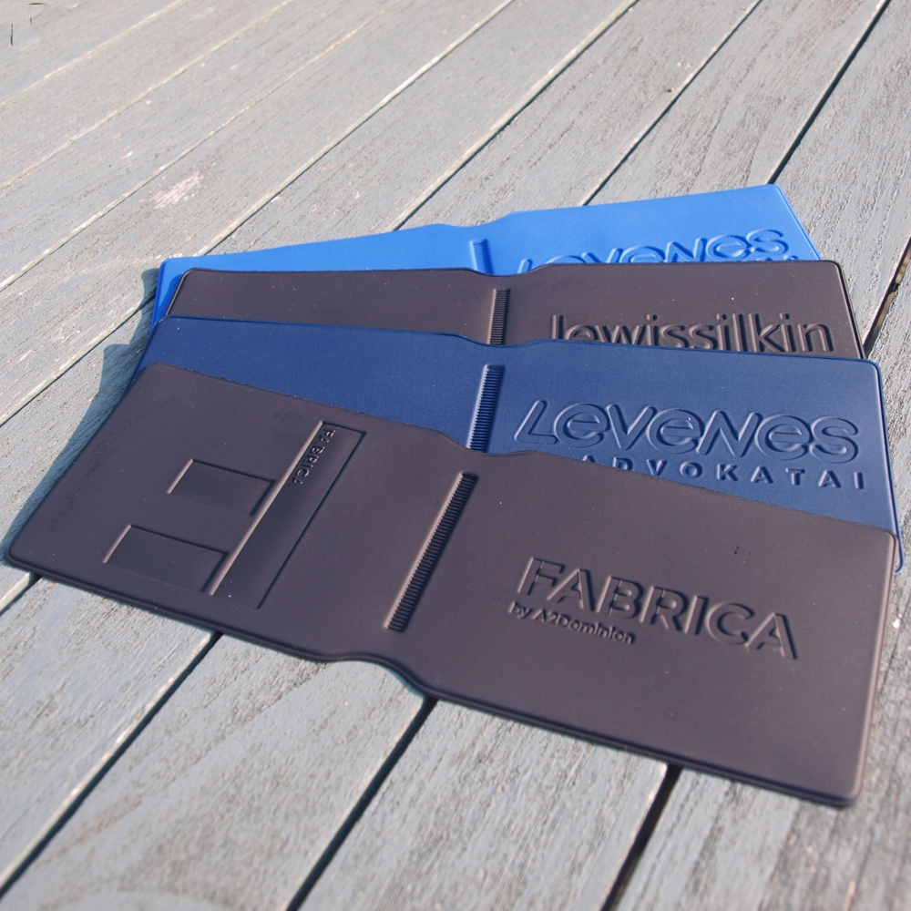 Embossed oyster wallets - best with bold artwork