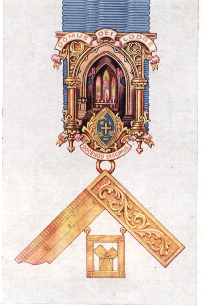 A Detail of the Domus Dei Lodge Past Masters' Breast Jewel