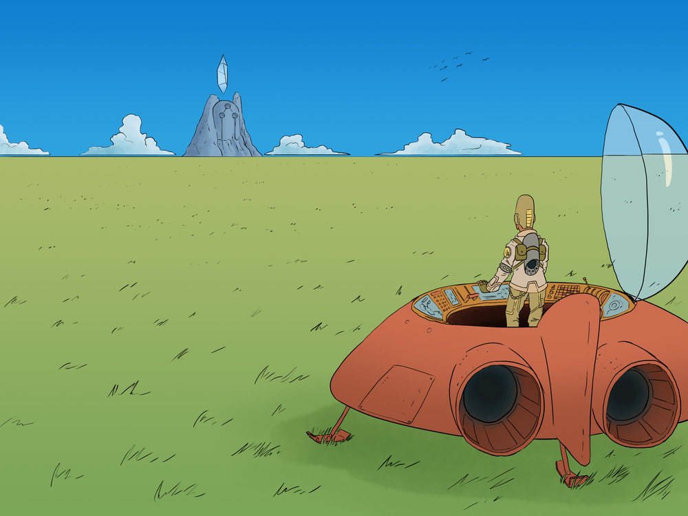 Stylistic Tribute to Moebius