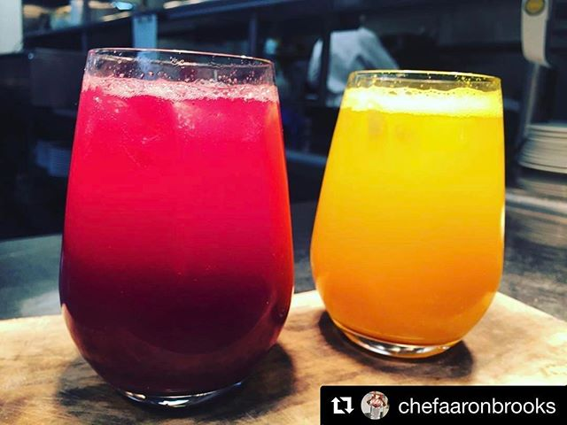 Happy Fri-Yay 😜 Repost @chefaaronbrooks ・・・ Pretty stoked on how our two house brewed 'buchas turned out @edgemiami with collaboration from the gang @bettabucha. Berry Beetroot and Tumeric, Ginger, Lemon. #kombucha #scobylife #ondraft #tapdatbucha