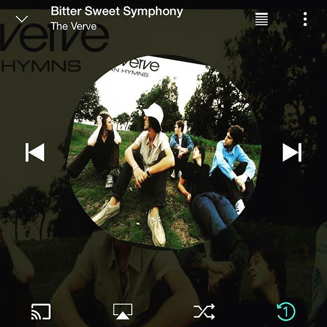 Sweet Symphony 🎷 on Saturday AMs #theverve #bettasweetsymphony #throwbacksaturdays