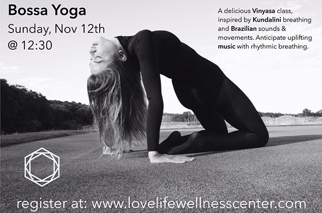 This is happening tomorrow! BB has been a part of the @lovelifewellnesscenter since its beginning and tomorrow Bossa Yoga is merging energies with this lovely studio as well. Namaste!  P.S. Come for class and mention this post for a free bottle of #BettaBucha