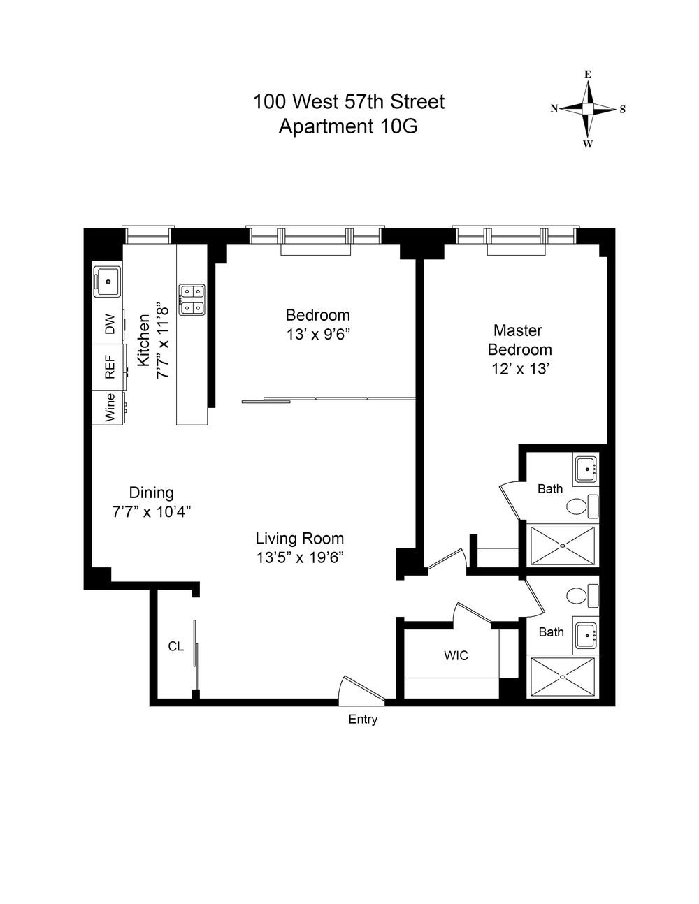 Floor Plan - 100 West 57th Street 10G.jpg