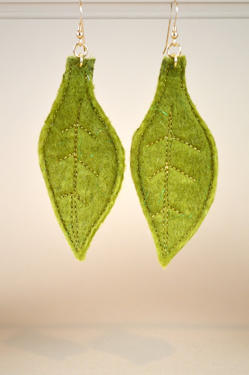 Spring Leaf Drop Earrings