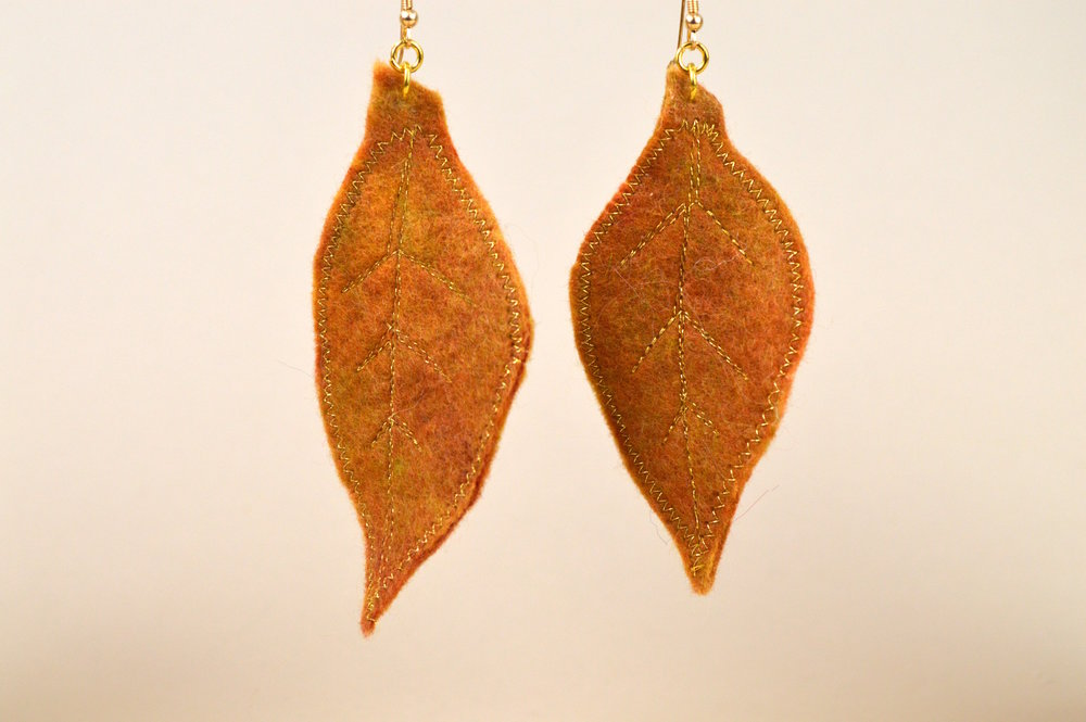 Autumn Leaf Drop Earrings