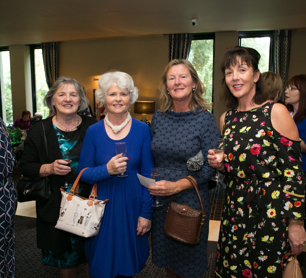 Hilda Barry, Ballintemple, Mary Jane Kennefick, College Road, Margaret McKernan, Ballintemple and Julie Foley, Blackrock at the Annual Aer Lingus Autumn Lunch in aid of Cork ARC Cancer Support House.