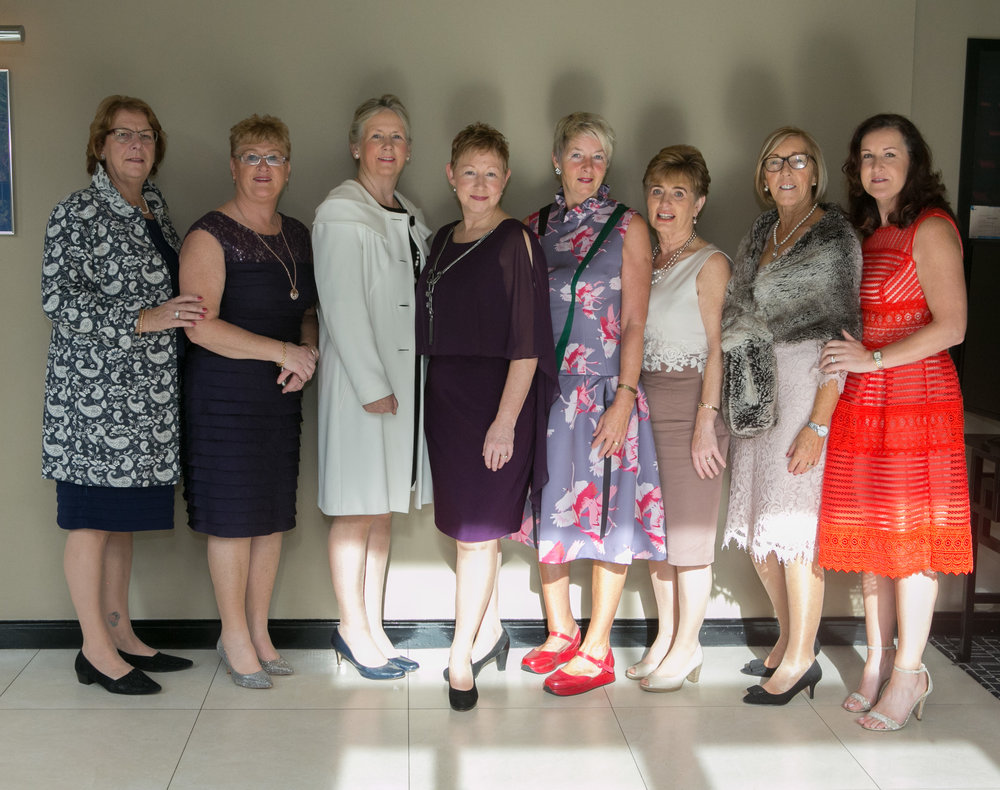 Ladies from  Macroom Golf Club , Mary Golden, Margaret Keating, Sheila O'Connell, Marie Lillis, Maura Forde, Norma Fitzgerlad, Rose Costello and Ber O'Shea at the Annual Aer Lingus Autumn Lunch in aid of Cork ARC Cancer Support House