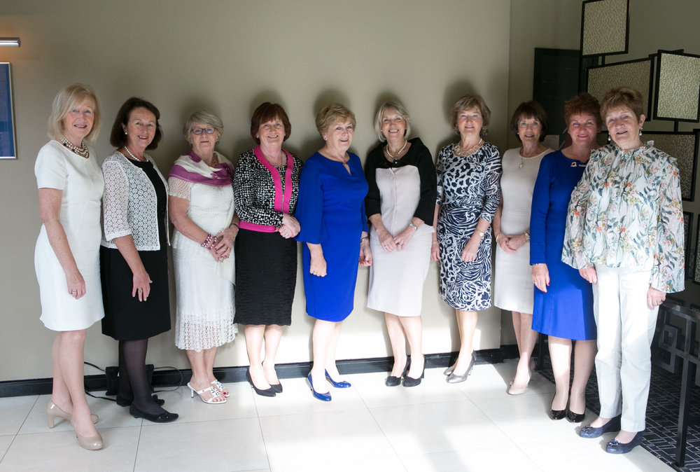 Ladies from  Lee Valley Golf and Country Club celebrating their recent All-Ireland success at the Annual Aer Lingus Autumn Lunch in aid of Cork ARC Cancer Support House are from left; Angela Corkery, Mary Murphy, Ann O'Flynn, Noreen McDonagh, Breda Quaid, Mags Harte-Barry, Anna Herrick, Pauline Farrell, Breda Murphy and Kitty O'Sullivan.