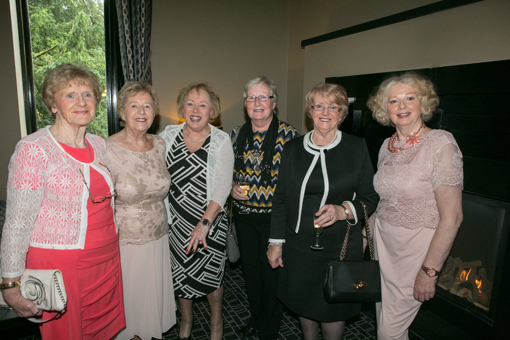 Sisters Mary Connole, Douglas, Marie O'Shea Rochestown, Josephine Wills, Bishopstown, Mary O'Neill, Blarney, Kathleen Browne and Mary Lapthorne, Dublin Hill at the Annual Aer Lingus Autumn Lunch in aid of Cork ARC Cancer Support House.