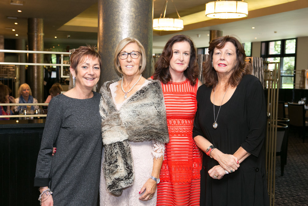 Bridie Murphy, Rose Costello, Ber O'Shea and Patricia Lynch all from Macroom at the Annual Aer Lingus Autumn Lunch in aid of Cork ARC Cancer Support House.
